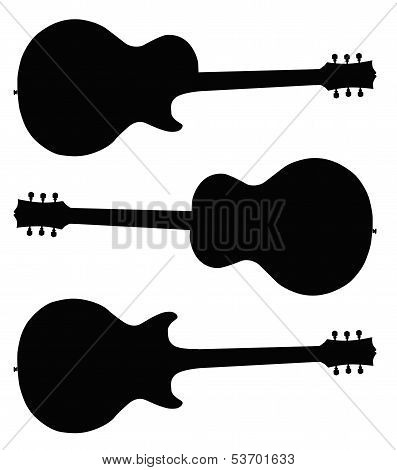Guitar Silhouettes poster