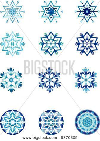 Crystal Modulation Of A Snowflake.