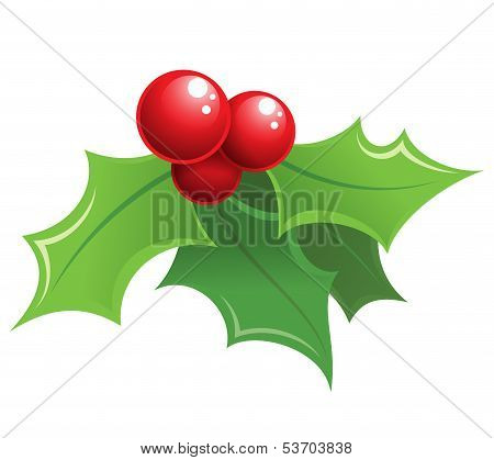 Cartoon Shiny Christmas Holly Decorative Ornament