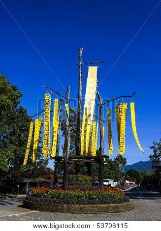 Hang Flag At Doi Tung In Chiang Rai