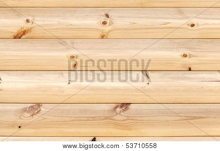 Yellow Wooden Wall Made Of Pine Tree Boards. Natural Background Texture
