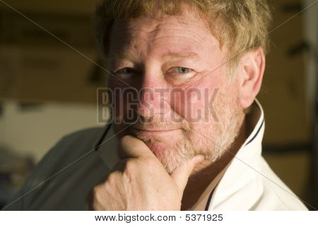 Middle Age Handsome Man Smiling Portrait