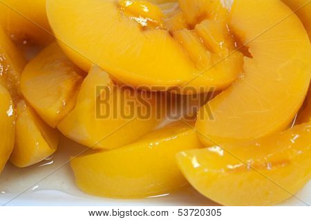 Juicy Sliced Peaches