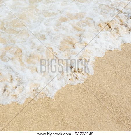 Sea Water On Sand Beach