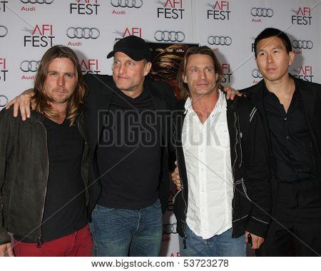 LOS ANGELES - NOV 9:  Woody Harrelson, Brett Harrelson, guests at the AFI FEST 2013 Presented By Audi -