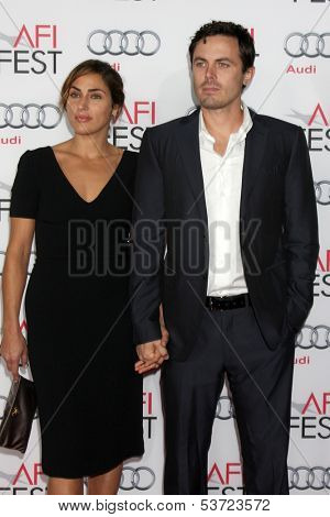 LOS ANGELES - NOV 9:  Summer Phoenix, Casey Affleck at the AFI FEST 2013 Presented By Audi -