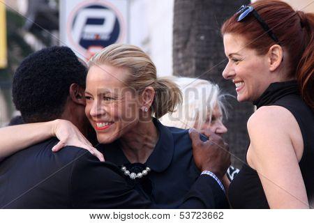 LOS ANGELES - NOV 8:  Blair Underwood, Maria Bello, Debra Messing at the Mariska Hargitay Hollywood Walk of Fame Star Ceremony at Hollywood Blvd on November 8, 2013 in Los Angeles, CA\