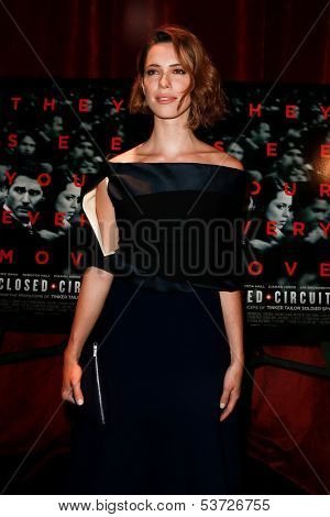 NEW YORK-AUG 19: Actress Rebecca Hall attends the 'Closed Circuit' screening at the Tribeca Grand Hotel on August 19, 2013 in New York City.