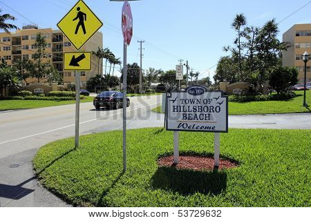 Hillsboro Beach Welcome Sign
