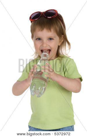Little Girl Drink Water