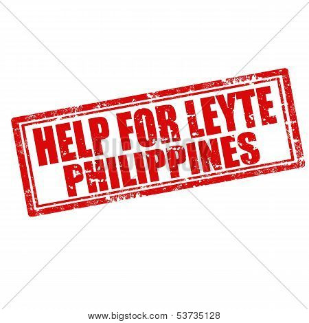 Help For Leyte -stamp