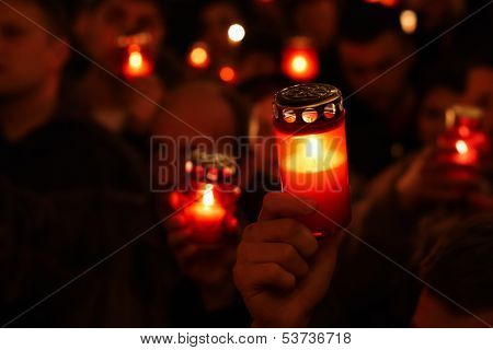 Easter religious ceremony candle lights