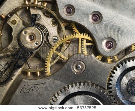 Gold Silver Precision Antique Vintage Pocket Watch Bodies Parts Gears