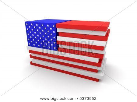 Usa Flag Blocks