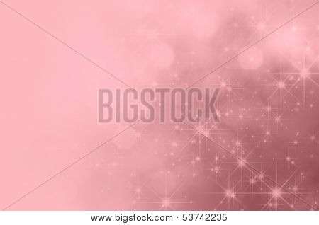 Pink Star Fade Background