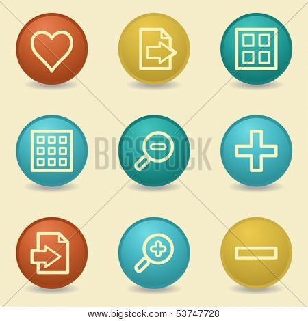 Image viewer web icons, retro buttons