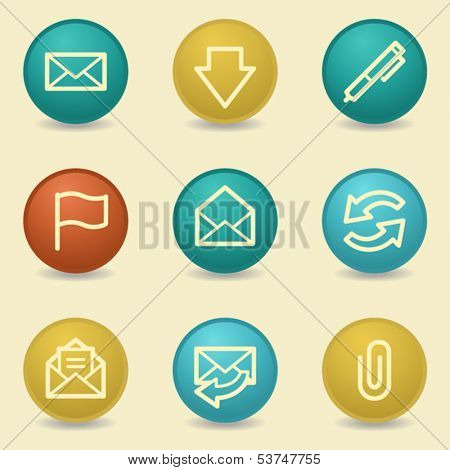 E-mail web icons, retro buttons