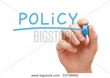 Policy Blue Marker