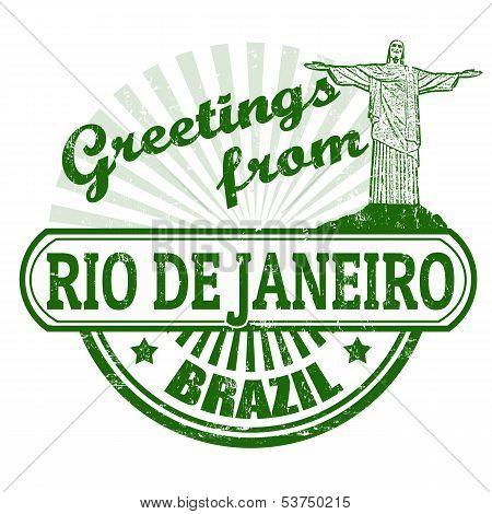 Greetings From Rio De Janeiro Stamp