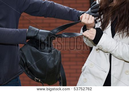 Black Backpack Stealing