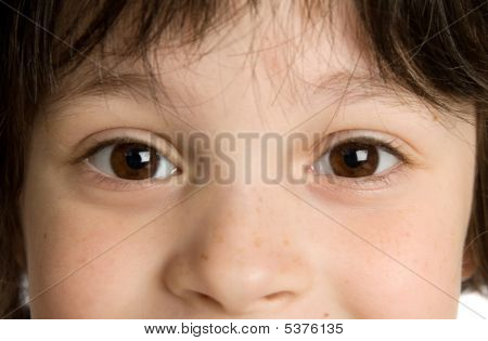 The Close-up Portrait Of Little Boy