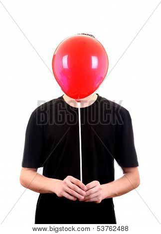 Person With Red Ball