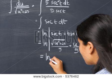 Student Working On Mathematics Problem