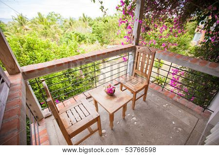 Beautiful Floral Balcony In A Small Boutique Hotel