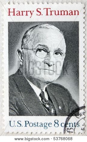 Usa 8C Harry Truman Stamp