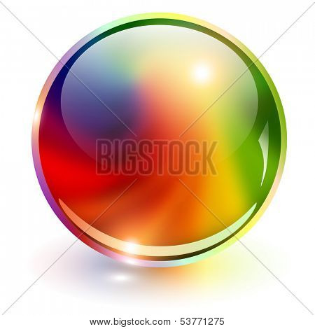 3D sphere rainbow colors, vector illustration.