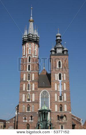 Old Brick Church In Europe