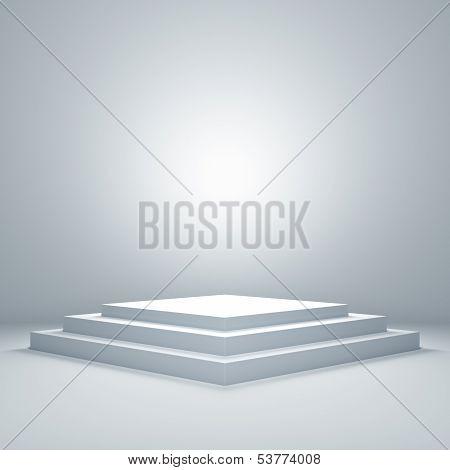 Empty Illuminated Podium