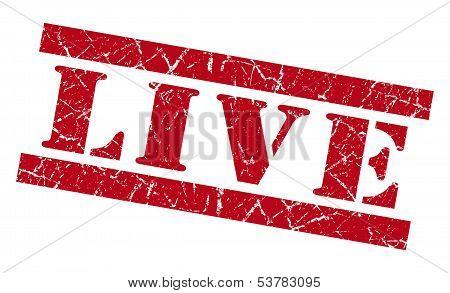Live Grunge Red Stamp