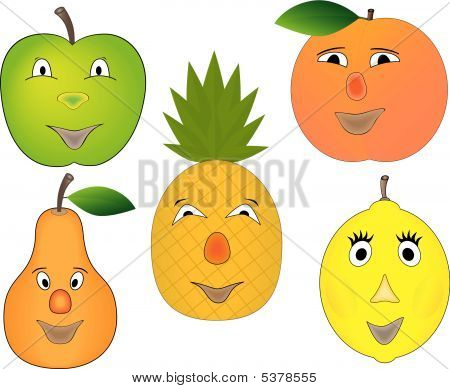 Funny Cartoon Fruits Collection