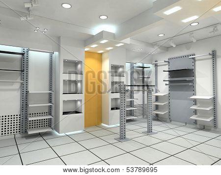 modern cloth boutique interior