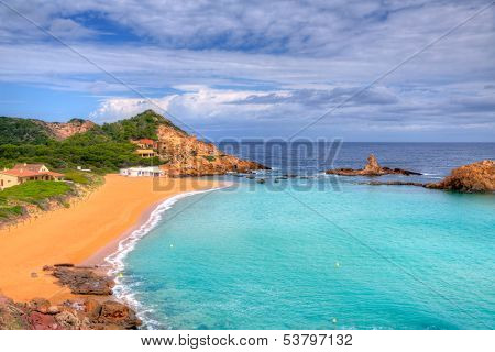 Cala Pregonda in Menorca at Balearic islands es Mercadal