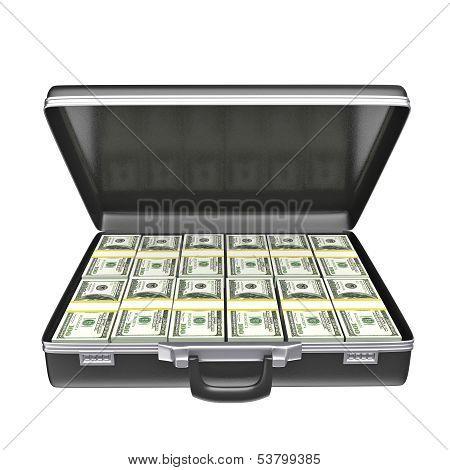 Black Case With Money