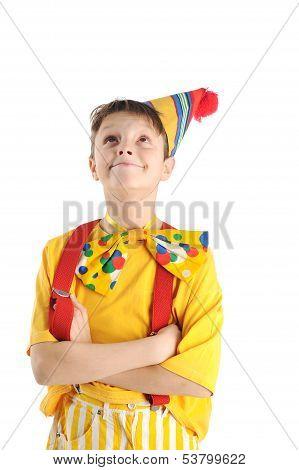 Looking Up Clown Boy