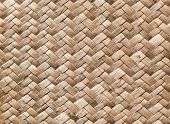 stock photo of wooden fence  - New wicker wall macro - JPG