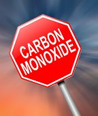 pic of fumes  - Illustration depicting a sign with a Carbon Monoxide concept - JPG