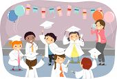 foto of toga  - Illustration of Kids Wearing Togas and Graduation Caps - JPG