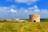 image of mola  - Menorca La Mola watchtower tower Cala Teulera in Mahon at Balearic islands - JPG