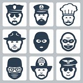 foto of firemen  - Vector avatar - JPG