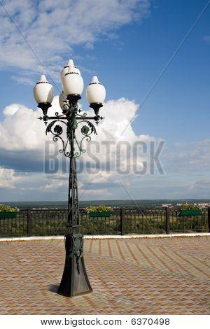 Lantern In The Street In Solar