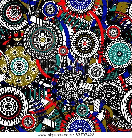 Abstract Machine pattern. Vector illustration.