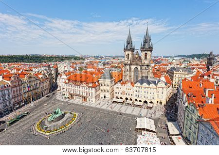 Cityscape of Old Town Square in Prague