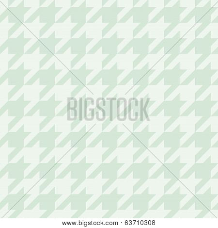 Pastel houndstooth vector seamless mint green and white pattern or tile background