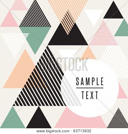 Abstract triangle design with text