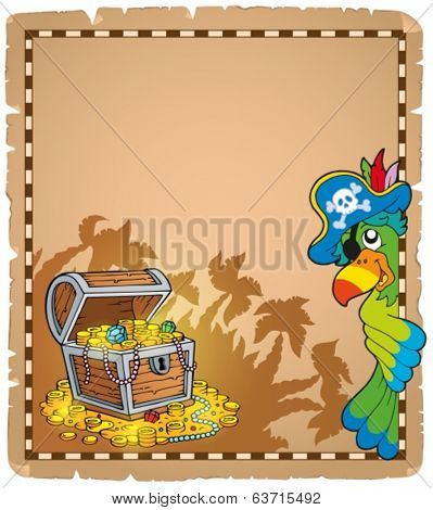 Pirate theme parchment 9 - eps10 vector illustration.