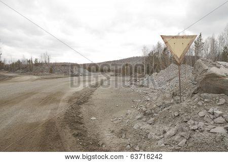 road in quarry